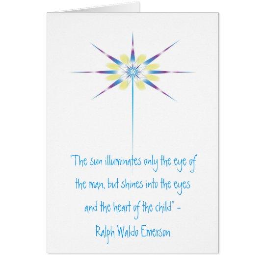 """Lichtstrahl, """"die Sonne belichtet nur das ey… Grußkarte"""