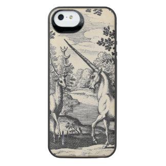 Licorne dans la forêt coque batterie pour iPhone SE/5/5s