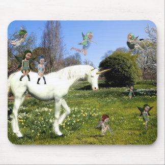 Licorne et fées tapis de souris