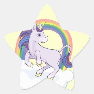 Licorne magique mignonne d'arc-en-ciel sticker étoile