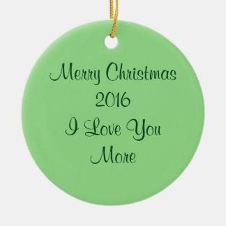 Liebe 2016 der frohen Weihnacht-I Sie mehr Rundes Keramik Ornament