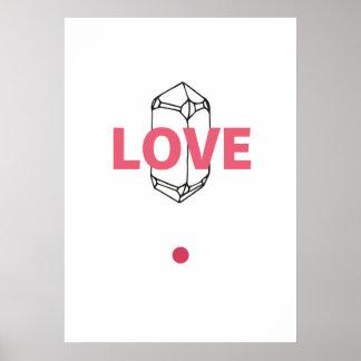 Liebe - abstrakte Crytal Kunst Poster