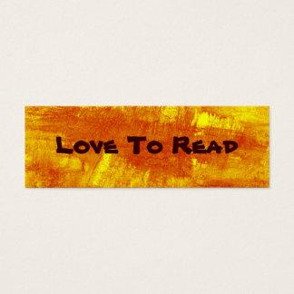 Liebe, abstraktes Lesezeichen zu lesen Mini Visitenkarte
