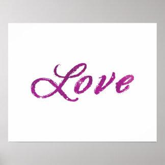 """Liebe-"" abstraktes rosa und lila Universum Poster"