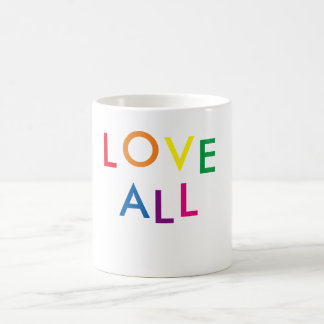 """LIEBE ALLE"" Inspirational weißer Kaffee-Tasse Kaffeetasse"