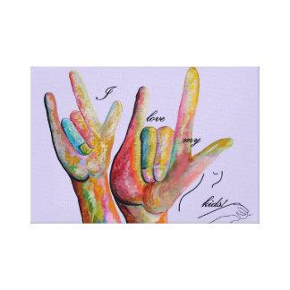 Liebe ASL I meine Kinder Leinwanddruck