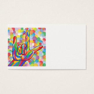 Liebe ASL I Sie auf Blasen-Hintergrund Visitenkarte