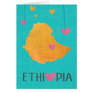 Liebe Äthiopien Karte