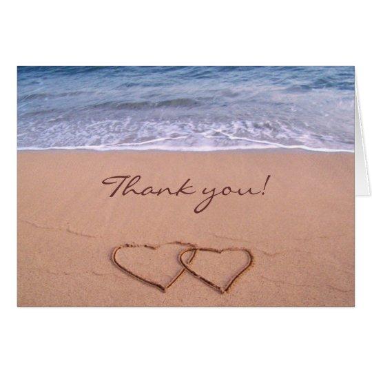 Liebe auf dem Strand danken Ihnen zu kardieren Karte