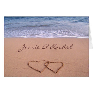 Liebe auf der Strand-Karte Grußkarte