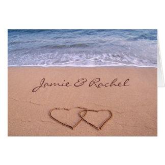 Liebe auf der Strand-Karte Karte