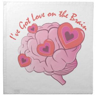 Liebe auf Gehirn Stoffserviette
