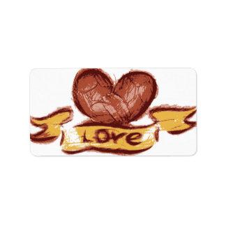 Liebe-Aufkleber Adress Aufkleber