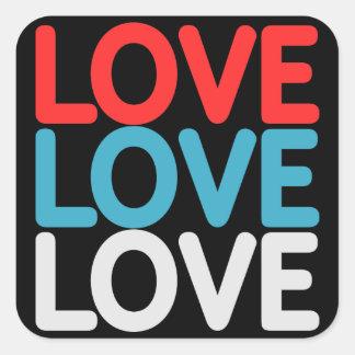 Liebe-Aufkleber Quadratischer Aufkleber