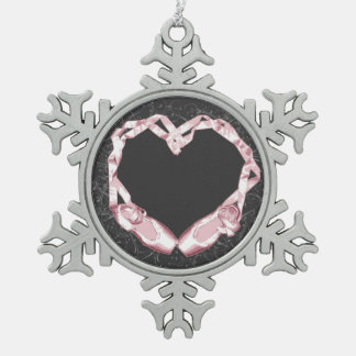 Liebe-Ballett Schneeflocken Zinn-Ornament