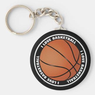 Liebe-Basketball der Gewohnheits-I wasserdichtes Schlüsselanhänger