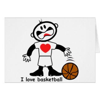 Liebe-Basketball der Kindi Karte