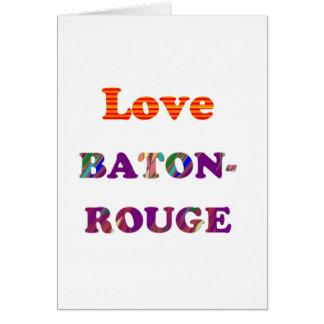 Liebe BATON-ROUGE Louisiana Grußkarte