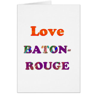 Liebe BATON-ROUGE Louisiana Karte