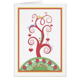 Liebe-Baum-Karte für den Tag des Valentines Karte