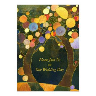 Liebe-Bäume, Symbole von Liebe Wedding 12,7 X 17,8 Cm Einladungskarte