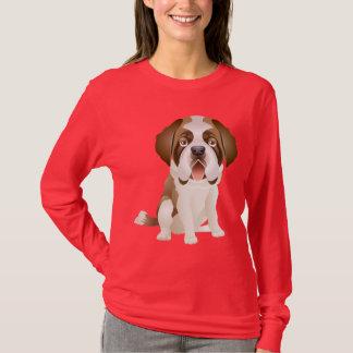 Liebe-Bernhardiner-Welpen-Hundet-shirt T-Shirt