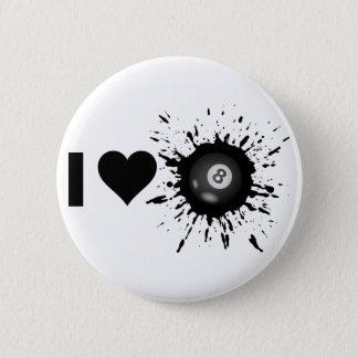 Liebe-Billard des Sprengstoff-I Runder Button 5,7 Cm