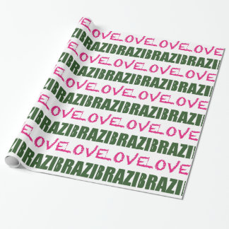 Liebe Brasilien Geschenkpapier