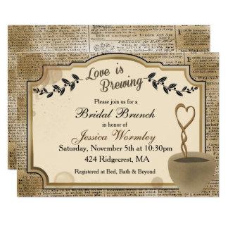 Liebe braut Brautparty-Einladungs-Kaffee Karte