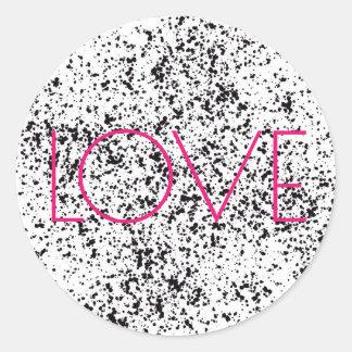 Liebe-dalmatinische Druck-Aufkleber Runder Aufkleber