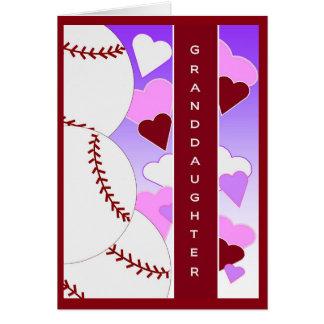 Liebe der Enkelin-I U > als BaseballValentine Grußkarte