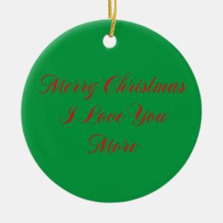 Liebe der frohen Weihnacht-I Sie mehr Keramik Ornament