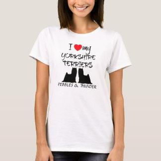 Liebe der Gewohnheits-I mein Yorkshire-Terrier T-Shirt