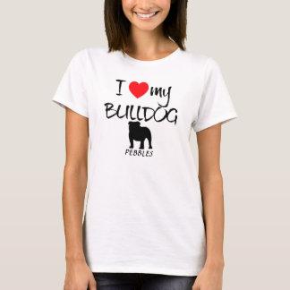 Liebe der Gewohnheits-I meine Bulldogge T-Shirt