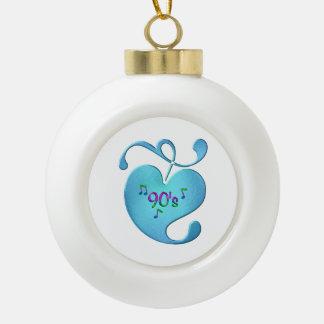 Liebe der Musik-90s Keramik Kugel-Ornament