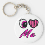 Liebe des Emo Augen-Herz-I ich Schlüsselband