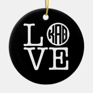 Liebe des Kappa-Alpha Theta-| Keramik Ornament