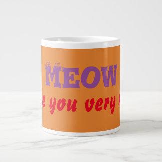 Liebe des Meow-I Sie sehr viel Kaffee-Tee-Tassen Jumbo-Mug