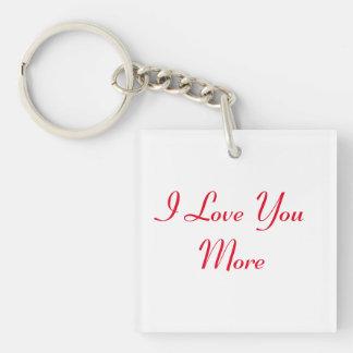 Liebe des Reversible-I Sie mehr Schlüsselanhänger
