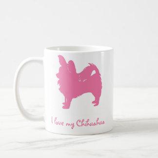 Liebe des Rosa-I mein Chihuahua Tasse
