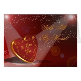 Liebe des Tages des Valentines I Sie Herz im Karte