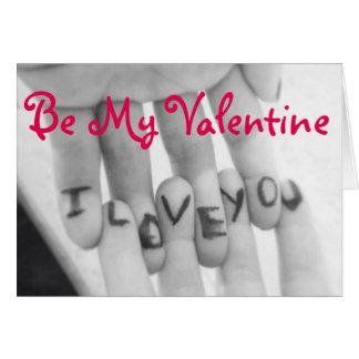 Liebe des Valentine-/I Sie Grußkarte