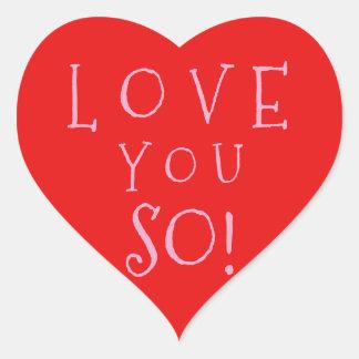 Liebe des Valentines Tagesc$sie so Herz-Aufkleber