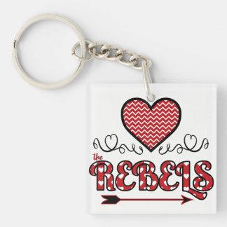 Liebe die Rebellen Keychain Schlüsselanhänger