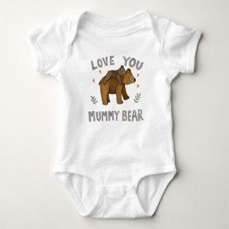 Liebe, die Sie Mamabärnbaby wachsen Baby Strampler