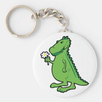 Liebe-Dinosaurier Standard Runder Schlüsselanhänger
