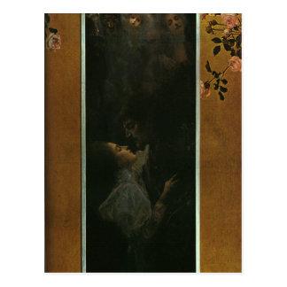 Liebe durch Gustav Klimt Postkarte