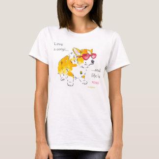 Liebe ein Corgi-T-Stück T-Shirt