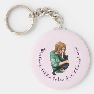 """""""Liebe einer Katze"""" Schlüsselring Schlüsselanhänger"""