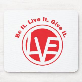 Liebe-Emblem-Mausunterlage Mauspad